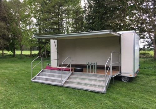 6m Display trailer with stage frontage