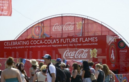 Coca Cola's Olympic Torch Relay Exhibition Unit