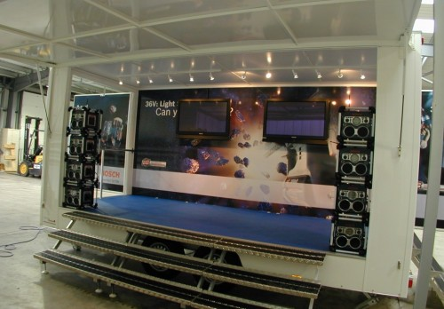5m Display Trailer with open sides