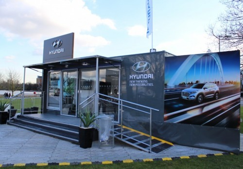 7m Mobile Exhibition Trailer with electric roofsign